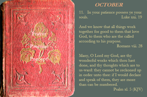 Prayer, promise, precept oct. 11