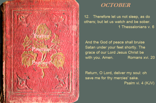 Prayer, promise, precept oct. 12