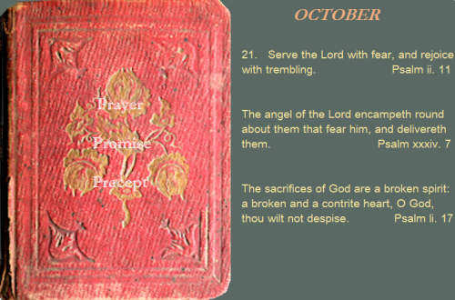 Prayer, promise, precept oct. 21