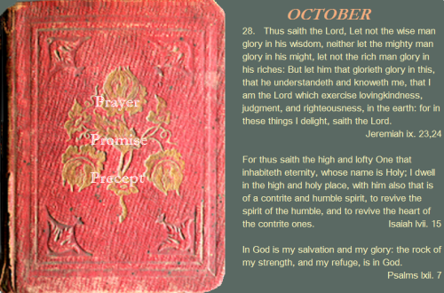 Prayer, promise, precept oct. 28