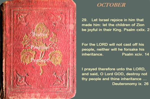 Prayer, promise, precept oct. 29