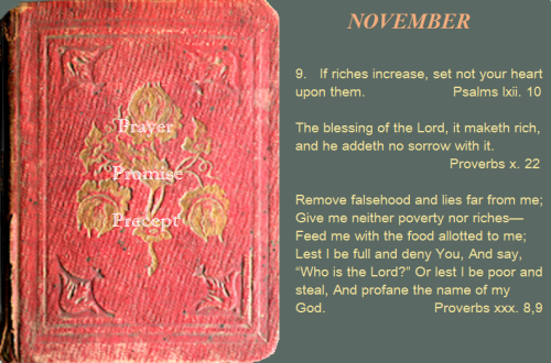 Prayer, promise, precept NOV. 9