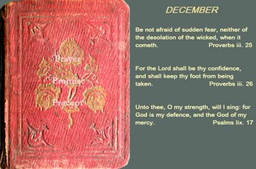 Prayer, promise, precept dec 03