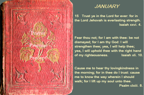 Prayer, promise, precept jan 15 16