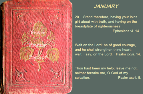 Prayer, promise, precept jan 20 16