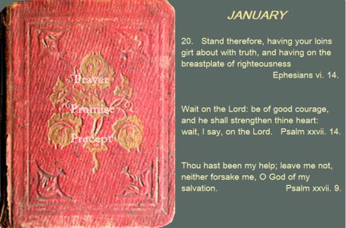 Prayer, promise, precept jan 20 16