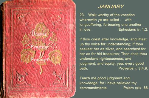 Prayer, promise, precept jan 23 16