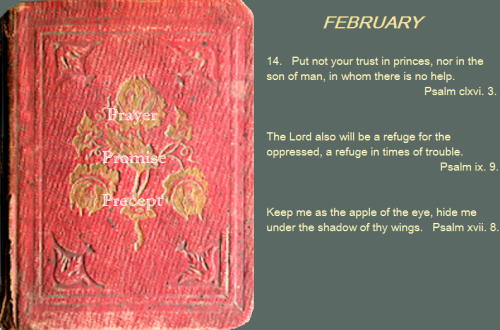 Prayer, promise, precept feb 14 16