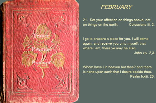 Prayer, promise, precept feb 21 16