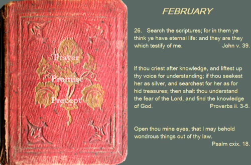 Prayer, promise, precept feb 26 16