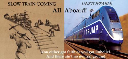 slow train trump train