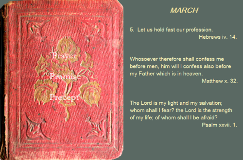 Prayer, promise, precept MAR 05 16