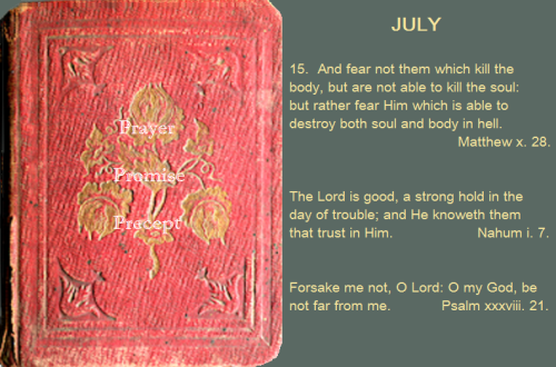 Prayer, promise, precept July 15, 16