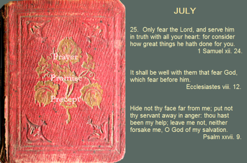 Prayer, promise, precept July 25, 16